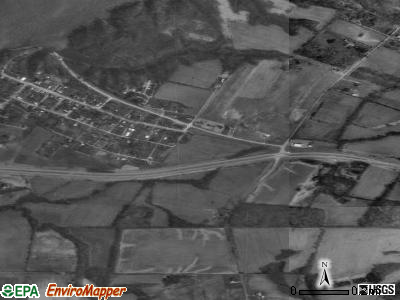 Harveysburg satellite photo by USGS