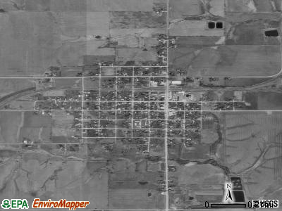 Allerton satellite photo by USGS