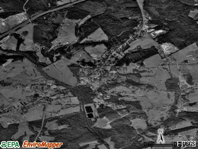 Carnesville satellite photo by USGS