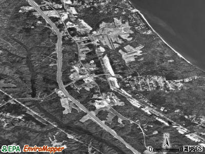 St. Leonard satellite photo by USGS