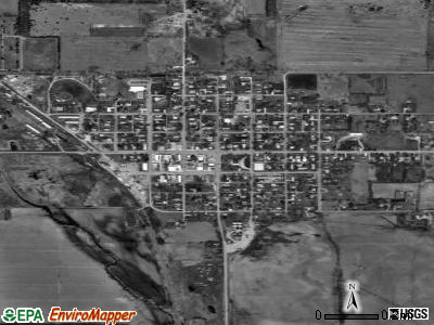Greeley Center satellite photo by USGS