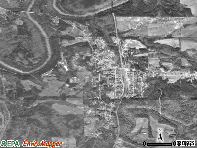 Trafford satellite photo by USGS