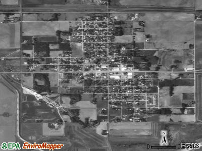 Cawker City satellite photo by USGS