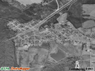 Akron satellite photo by USGS