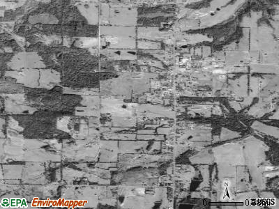 Hector satellite photo by USGS