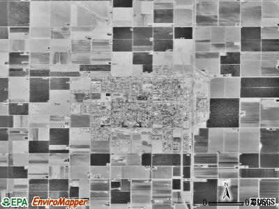 Wasco satellite photo by USGS
