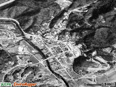 Rosman satellite photo by USGS
