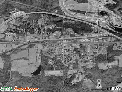 Burkeville satellite photo by USGS