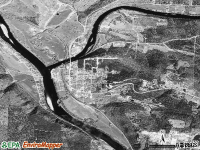 Norfork satellite photo by USGS