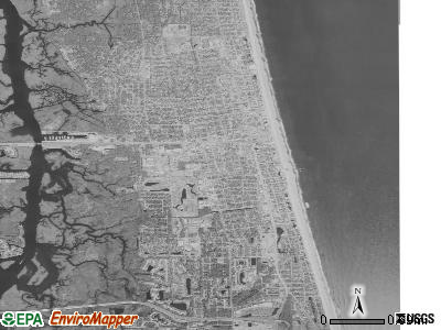 Jacksonville Beach satellite photo by USGS