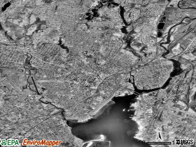 New Haven satellite photo by USGS