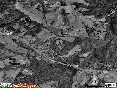 Talmo satellite photo by USGS