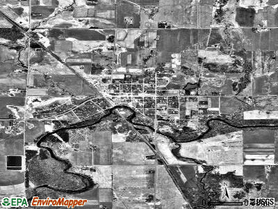 Gilman satellite photo by USGS
