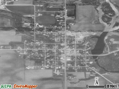 Stacyville satellite photo by USGS