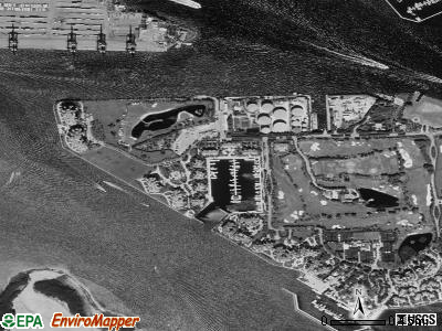 Fisher Island satellite photo by USGS