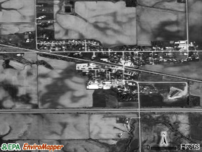 Congerville satellite photo by USGS