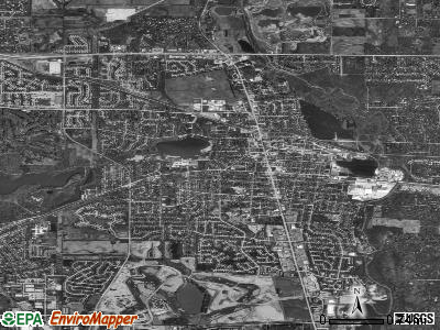 Libertyville satellite photo by USGS