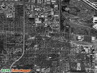 Bensenville satellite photo by USGS