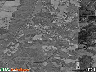 Mentone satellite photo by USGS