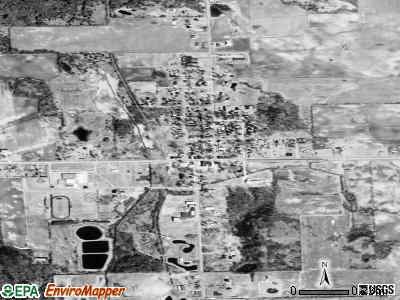 Kingston satellite photo by USGS