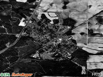 Warwick satellite photo by USGS