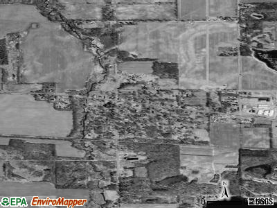 Vandalia satellite photo by USGS