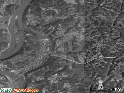 Weirton satellite photo by USGS