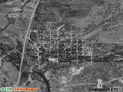 Christoval satellite photo by USGS