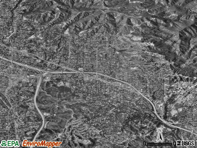 La Canada Flintridge satellite photo by USGS