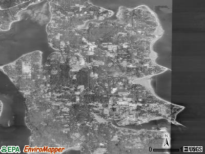 Bainbridge Island satellite photo by USGS