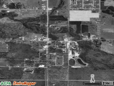 Rothbury satellite photo by USGS