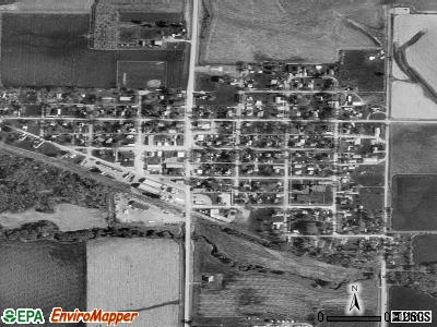 Garrison satellite photo by USGS