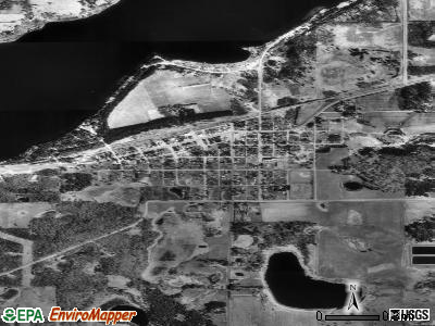 Akeley satellite photo by USGS