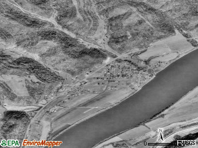 Crown City satellite photo by USGS