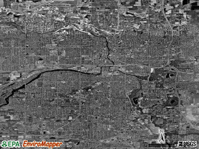 Lansing satellite photo by USGS