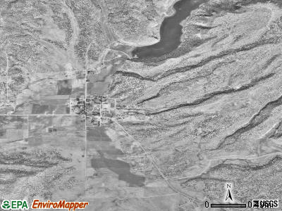 Ramah satellite photo by USGS