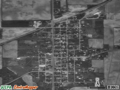 Michigantown satellite photo by USGS