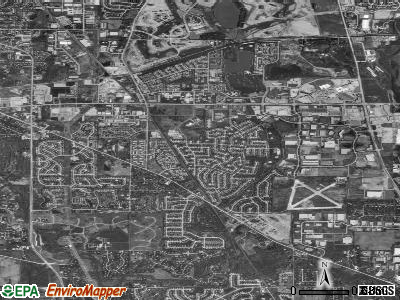 Vernon Hills satellite photo by USGS