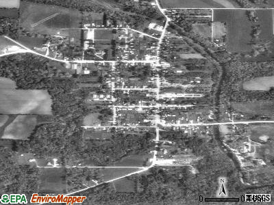 Spillville satellite photo by USGS