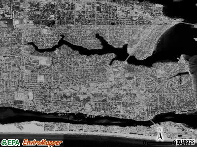 Fort Walton Beach satellite photo by USGS
