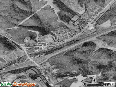Ellenboro satellite photo by USGS