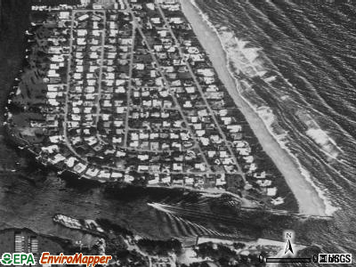 Jupiter Inlet Colony satellite photo by USGS