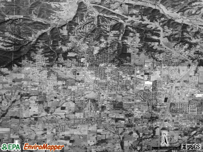 Bentonville satellite photo by USGS