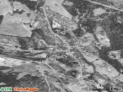 West Burke satellite photo by USGS