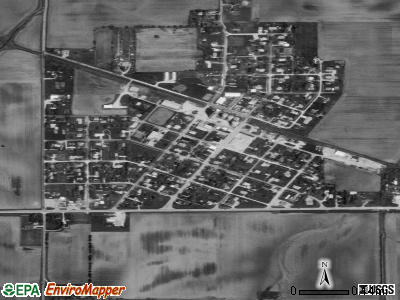 Hindsboro satellite photo by USGS