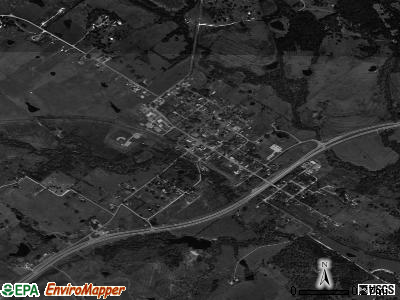 Burton satellite photo by USGS