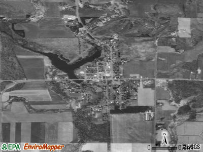 Dallas satellite photo by USGS