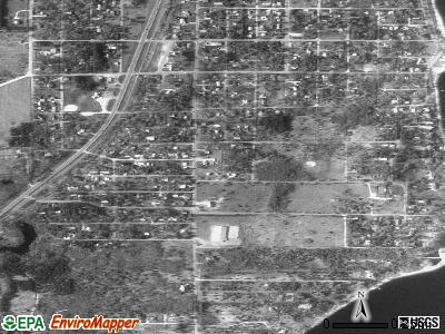 Pueblo of Sandia Village satellite photo by USGS