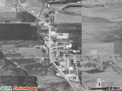Thayne satellite photo by USGS