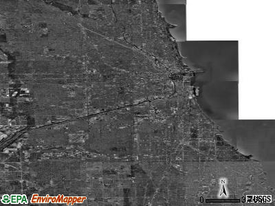 Chicago satellite photo by USGS